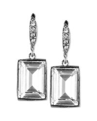 Givenchy - Metallic Crystal Small Square Drop Earrings - Lyst