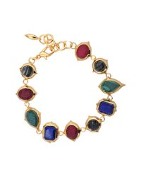 Isharya | Multicolor Rani Rocks Multi Bracelet | Lyst