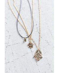 Urban Outfitters - Metallic Power Of 3 Layering Necklace Set - Lyst