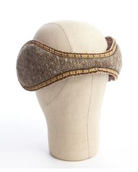 Grace Hats - Brown Wool Blend Triolean Faux Fur Lined Earmuffs for Men - Lyst