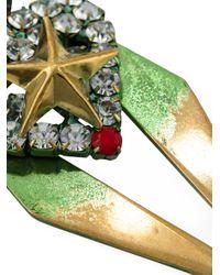 Iosselliani | Green 'full Metal Jewels' Clip-on Earrings | Lyst