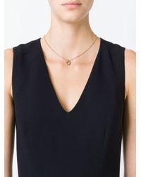 Ferragamo | Metallic Gancio Charm Necklace | Lyst