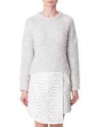Tibi - Natural Boucle Cropped Cozy Pullover - Lyst