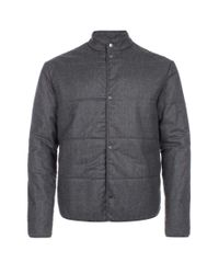 Paul Smith | Gray Men's Grey Marl Wool-flannel Wadded Jacket for Men | Lyst