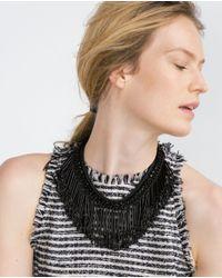 Zara | Black Chain Necklace | Lyst