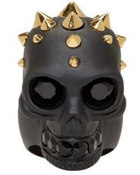 Alexander McQueen - Black Studded Skull Ring for Men - Lyst
