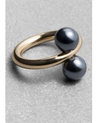 & Other Stories - Metallic Pearl Bead Ring - Lyst