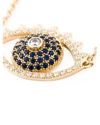 KENZO | Metallic Big 'Eye' Necklace | Lyst