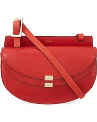 Chloé | Red Georgia Leather Satchel Bag | Lyst