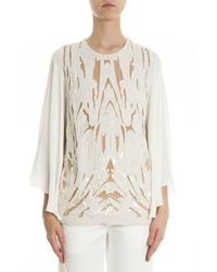 Elie Saab | White Batwing Blouse | Lyst