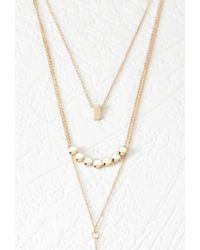 Forever 21 | Metallic Geo Necklace Set | Lyst