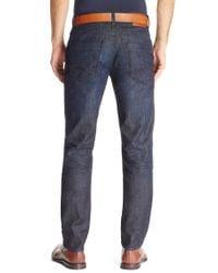 BOSS Orange - Blue 'orange63' | Slim Fit, Stretch Cotton Jeans for Men - Lyst