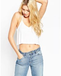 ASOS | White The Ultimate Crop Cami | Lyst