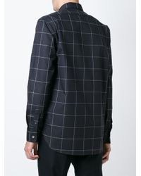 Etudes Studio - Black Grid Print Shirt for Men - Lyst