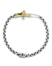 David Yurman - Metallic Waves Dagger Bracelet With Gold for Men - Lyst