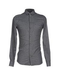 ELEVEN PARIS - Gray Shirt for Men - Lyst