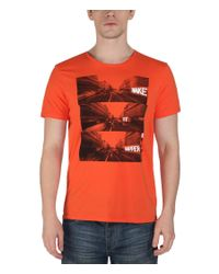 Bench | Orange Eager Graphic Crew Neck Slim Fit T-shirt for Men | Lyst