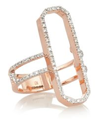 Monica Vinader | Pink Naida Cocktail Rose Gold-plated Diamond Ring | Lyst