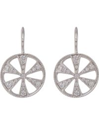 Cathy Waterman - White Women's Wheel Drop Earrings - Lyst