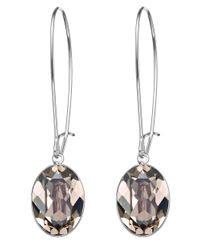 Swarovski | Metallic Puzzle Greige Crystal Earrings | Lyst