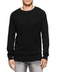 Calvin Klein Jeans | Black Waffle Knit Crewneck for Men | Lyst