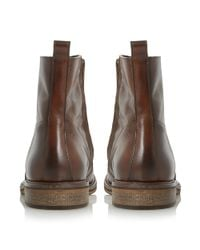 Bertie | Brown Caden Leather Zip Boots for Men | Lyst