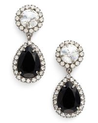 DANNIJO | Black Preorder Monico Crystal Drop Earrings | Lyst