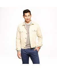 J.Crew | Natural Wallace Barnes Bedford Cord Jacket for Men | Lyst
