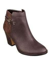 Ivanka Trump | Brown Tifton Leather And Suede Booties | Lyst