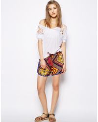 MINKPINK | Multicolor Moroccan Tile Shorts | Lyst