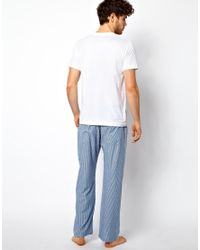 French Connection - Blue Pyjama Set for Men - Lyst