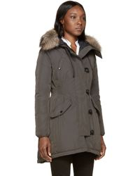 Moncler | Green Down Arriette Coat | Lyst