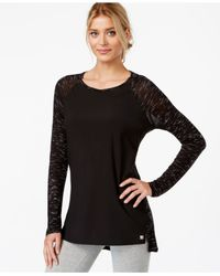 Calvin Klein | Black Performance Long-sleeve High-low T-shirt | Lyst
