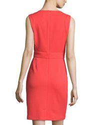 Laundry by Shelli Segal - Orange Sleeveless Textured Knit Dress - Lyst