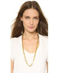 Eddie Borgo - Metallic Small Link Necklace - Gold - Lyst