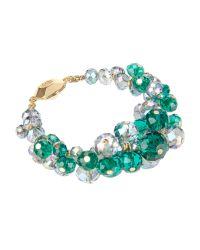 Ted Baker | Green Cluster Bead Bracelet | Lyst