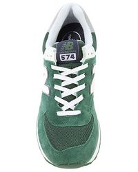 New Balance - Green The Core Plus 574 Sneaker for Men - Lyst