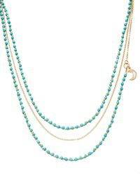 Astley Clarke | Blue Biography Beaded Charm Necklace | Lyst