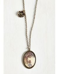 Ana Accessories Inc - Metallic Long Storybook Short Necklace - Lyst