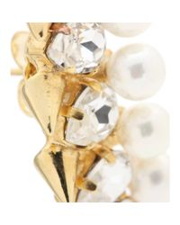 Joanna Laura Constantine - Metallic Gold-Plated Crystal-Embellished Stud Earrings - Lyst