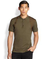 Alexander McQueen - Green Pique Cotton Harness Polo for Men - Lyst