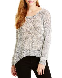 Jessica Simpson | White Open-knit Sweater | Lyst