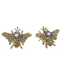 Betsey Johnson | Metallic Queen Bee Stud Earrings | Lyst