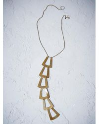 Free People | Metallic Seaworthy Womens Oleria Tie Necklace | Lyst
