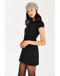 Kimchi Blue - Black Damask Empire Mini Dress - Lyst