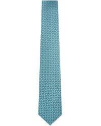 Charvet | Blue Abstract Mini Squares Silk Tie - For Men for Men | Lyst