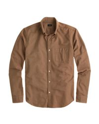 J.Crew - Brown Slim Vintage Oxford Shirt In Tonal Cotton for Men - Lyst
