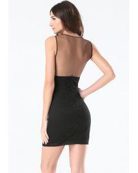 Bebe | Black Lace & Applique Dress | Lyst