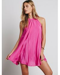 Free People - Purple Palmer Dress - Lyst