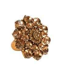 Oscar de la Renta | Metallic Starburst Crystal Ring | Lyst